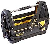 Stanley FatMax Werkzeugtrage (48x33x22cm, 600 Denier Nylon, wasserdichter Kunststoffboden, ergonomischer Gummigriff, Rahmen stahlverstärkt, verstellbarer Schultergurt) 1-93-951