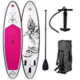 BRAST Stand Up Paddle Paddling SUP Board Damenboards Kolibri 300x76x15cm aufblasbar Alu-Paddel Pumpe Rucksack gewebtes Drop-Stitch 115KG