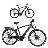 Fischer Damen E-Bike Trekking VIATOR 4.0i (2020), schwarz matt, 28', RH 44 cm, Mittelmotor 50 Nm, 48 Volt Akku im Rahmen, 418 Wh, Rahmenhöhe