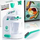 freegreen® Premium Spiralschneider mit Auffangbehälter [inkl. Das Spiralschneider-Kochbuch] I EIN Zoodle Maker, der begeistert I Zaubere Dir Dein Traumgericht aus Obst- & Gemüsenudeln