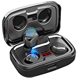 AIKELA Bluetooth Kopfhörer Kabellos in Ear,Wireless Kopfhörer Sport Ohrhörer Bluetooth 5.0 Headset mit LED Digitalanzeige,140 Stunden Spielzeit,IPX7 Wasserdicht,Mikrofon für iPhone Android usw