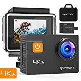 APEMAN Action Cam A80, UHD 4K WIFI 20MP Unterwasserkamera Digitale Wasserdichte 40M Helmkamera (kostenlose Transporttasche, 2x1050mAh verbesserten Batterien)