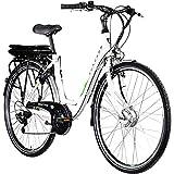 Zündapp E Bike 700c Damenrad Pedelec Z503 28 Zoll Elektrofahrrad E Damenrad (weiß/grün, 49 cm)