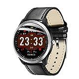 WEINANA Herren Smartwatch IP67 Wasserdicht Herzfrequenzmesser Blutdruck Armband Fitness Tracker Smartwatch(Color:D.)