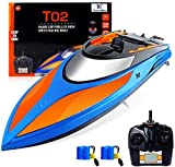 GizmoVine Ferngesteuertes Boot für Pools und Seen ,2.4 GHz 25KM / H Schnelle Renn-RC-Boote mit Alarm bei schwacher Batterie Capsize Recovery für Jungen Mädchen Erwachsene