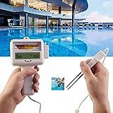 Fdit Chlortester, CL2 Chlor Hohe Genauigkeit Wasserprüfgerät Digital PH Messgerät pH Tester Chlor Meter Wasserqualitätstester für Schwimmbädern,Whirlpools usw