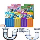 Drain Cleaner Sticks, 96 Stück Rohrreiniger Abflussreiniger Stäbchen Enzymreiniger für verstopfte Rohre in Bad, Dusche und Küche, Rohrreiniger Abflussreiniger für Spülbecken