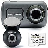 Nextbase 622GW Dashcam Auto vorne hinten- mit 128 GB SD-Karte- 4K/30fps UHD Aufzeichnung 280° / 360 Weitwinkel Super Slow Motion @ 120fps- 1080p Hinten, Schlecht – Wetter – Modus, 10Hz GPS WHAT3WORDS