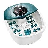 Fußbad / Badmassagegerät mit Wärme, Blasen und Vibration, digitaler Temperaturregelung, 16 Massagerollen mit abnehmbaren Mini-Massagepunkten, Beruhigungs- und Komfortfüßen