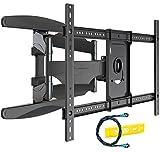 Invision TV Wandhalterung - Ultrastarker Doppelarm - Schwenkbar Neigbar für 94 - 178 cm (37 - 70 Zoll) - Halterung für LED LCD Fernseher - VESA 200x200 - 400 x 600 inklusive (HDTV-DXL)