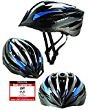 Fahrradhelm Dunlop HB13 für Damen, Herren, Kinder, EPS Innenschale, Abnehmbares Visier für optimalen Blendschutz, Leichter MTB City Bike Helm, besonders Luftig (L(58-61cm), Blau)