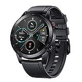 Smartwatch HONOR Magic Watch 2 46 mm mit Blutsauerstoff und Herzfrequenz Fitness Tracker Armband Wearable, Amoled Touchscreen Fitness Armband Armbanduhr GPS 5 ATM Wasserdicht Schwarz, MNS-B19