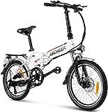 ANCHEER 20' klappbares E-Bike, Faltbares Pedelec, Elektrofahrrad für Damen und Herren mit 288Wh Lithium Akku, 250W Motor, Shimano 7 Gang-Schaltung