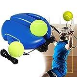 Tennis Trainer, Tragbar Tennistrainer Set Trainer Baseboard mit Seil und 2 Rebound Ball, Solo Selbststudium Übungs-Trainingswerkzeug Tennistrainingsausrüstung für Erwachsener Kinder Anfänger