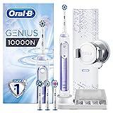 Oral-B Genius 10000N Elektrische Zahnbürste mit Zahnfleischschutz-Assistent und Premium Lade-Reise-Etui, orchid purple