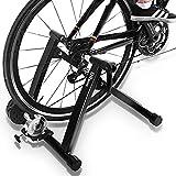 DRMOIS Rollentrainer Fahrradtrainer Indoor Fahrrad Heimtrainer klappbar inkl. Schaltung mit 6 Gänge für Rennrad 26'-29' Stahl