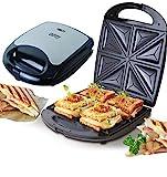 4er Sandwichmaker | 1500 Watt | Sandwich Maker | Edelstahl Sandwichtoaster | Waffeleisen | Paninitoaster | Elektrogrill | 8 Sandwichecken | Antihaftbeschichtung | Thermostat (4er Sandwichmaker)