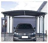 Home Deluxe - Design Carport anthrazit - Falo - Maße: 505 x 300 x 226/240 cm - komplett inkl. Montagematerial   Autoüberdachung Garage Unterstand