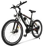 ANCHEER 26' Ebike, E-Mountainbike & Elektrofahrrad mit 36V-8AH Akku und 250W Motor für Reichweite von 25-70KM   Pedelec mit 21 Gänge für Herren und Damen (36V-8AH Schwarz-Rot)