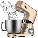 Cheflee Küchenmaschine 1800W Hohe Leistung Knetmaschine 6-stufige Geschwindigkeit 7,2 Liter Edelstahl-Schüssel mit Handgriff