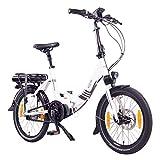 "NCM Paris MAX N8R / N8C E-Bike, E-Faltrad, 250W, 36V 14Ah 504Wh Akku, 20"" Zoll (Weiß mit Rollenbremse (N8R))"