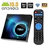 Android TV Box, T95 Android 10.0 TV Box 4GB RAM/32GB ROM Allwinnner H616 Quad-Core Unterstützung 2.4GHz/5.0GHz WiFi 6K HDMI Smart TV Box