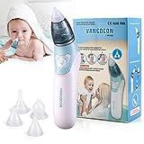 Nasensauger, Uman® 2 in 1 Elektrischer Baby-Nasenreiniger & Ohrenschmalz-Entferner mit 4 wiederverwendbaren Rotzsaugdüsen für Neugeborene, Kleinkinder und Säuglinge