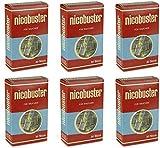Nicobuster Zigarettenfilter 6 x 30 Stück Nikotinfilter Zigarettenspitze Filter, Nikotin & Teer Reduzieren