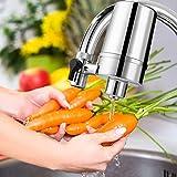 WaterQueen Wasser Filtersystem, Wasserhahn Wasserfilter mit Wasser Filterkartuschen für Küche - Passt Standard Armaturen Faucet Filters