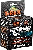 T-Rex 827-00 Waterproof Tape – Wasserdichtes, wetterfestes Reparaturband zum Befestigen und Abdichten – 50mm x 1,5m