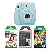 Fujifilm instax Mini 9 Imaging Kamera mit Filmset monochrome, eis blau