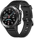 Blackview SW02 Smartwatch, Smart Armbanduhr Herren Damen Fitness Tracker Smart Watch Rund 5ATM Wasserdicht Fitnessuhr mit Pulsuhr Schrittzähler Stoppuhr Wearable Sportuhr Kompatibel iOS Android Handy