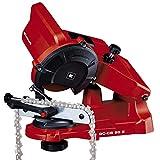 Einhell 4499920 Sägekettenschärfgerät GC-CS 85 E (85 W, 5500 min-1, Schleifwinkeleinstellung m. Skala, Kettenspannvorrichtung, Tiefenbegrenzung inkl. Schleifscheibe) , (L x B) 255 mm x 220 mm