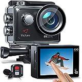 Vicure AC920 Action Cam 4k/60fps 20MP EIS Anti-Shake WiFi Touchscreen Helmkamera 40M Unterwasserkamera mit Fernbedienung und externem Mikrofon