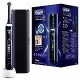 Oral-B Genius X Elektrische Zahnbürste/Electric Toothbrush, 6 Putzmodi für Zahnpflege, künstliche Intelligenz & Bluetooth-App, Designed by Braun, Reiseetui, schwarz