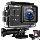 APEMAN Action Cam A79, 4K WiFi 20MP Unterwasserkamera Digitale wasserdichte 40M Helmkamera (2.4G Fernbedienung und Webcam mit externem Mikrofon)