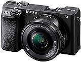 Sony Alpha 6400   APS-C Spiegellose Kamera mit Sony 16-50mm f/3.5-5.6 Power-Zoom-Objektiv ( Schneller 0,02s Autofokus 24,2 Megapixel, 4K-Filmaufnahmen, neigbares Display für Vlogging)