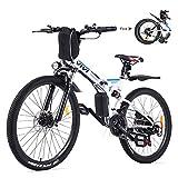 Vivi 26 Zoll E-Bike Mountainbike Elektrofahrräder, E-Bike Klapprad 350W Elektrisches Fahrrad Herren und Damen Mit Herausnehmbarer 8Ah Batterie, Professionelle 21-Gang-gänge, Vollfederung