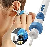 Elektrische Ohrenschmalz entfernen-Kit, elektrische Ohr Reiniger, mit 2new-designed Ersatz Tipps & Bürste