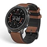 Amazfit Smartwatch GTR 47mm 1,39 Zoll AMOLED Display GPS Fitness Armbanduhr mit 5 ATM wasserdicht, Herzfrequenzüberwachung, Kalorien, Schrittzähler für Herren Damen
