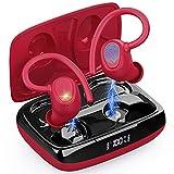 Bluetooth 5.1 Kopfhörer Sport, Kopfhörer Kabellos In Ear Kabellose Sportkopfhörer IP7 Wasserdicht Wireless Earbuds mit Mikrofon, 48H Deep Bass Noise Cancelling Ohrhörer, USB-C, LED-Anzeige[2021 Neue]