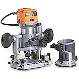 VonHaus Oberfrse Deluxe mit Trimmer UND Tauchbasis 710W  Inklusive Trimmer + Tauchbasis + Werkzeugtasche, Werkzeug zur Holzbearbeitung, 3 Spannzangen:  Zoll, 6 mm, 8mm