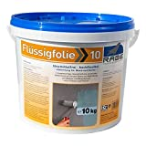 10kg Flüssigfolie Streichfolie Flüssiggummi lösemittelfreie, elastische Abdichtung für den Innenbereich Bad Dusche Küche