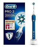 Oral-B PRO 2 2000N Elektrische Zahnbürste mit visueller Andruckkontrolle für extra Zahnfleischschutz, blau