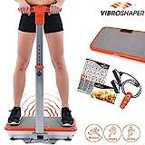 Mediashop Vibro Shaper mit Griff, Vibrationsplatte, Ganzkörper Trainingsgerät mit 3 Stufen, 99 Geschwindigkeiten, Fernbedienung, Trainings-Bänder, Ernährungsplan, Übungsplan | Das Original aus dem TV