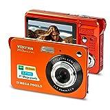 VOXPAN Digitalkamera für Anfänger, 8X Digital Zoom HD Digitalkamera Fotoapparat 21 MP 1080P HD 2,7 Zoll Foto Kompaktkamera Mini-Fotokamera Klein Geschenk für Kinder Jugendliche Student (Orange)