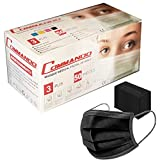 50x Gesichtsmasken Einweg Mundschutz Black Gesichtsmaske Mundmaske CE ZERTIFIZIERT, 3-lagig EN 14683 Typ II Maske Unisex Face Masks, Menge:50 Stück