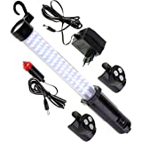kraftmax Hochleistungs LED Arbeitsleuchte - kabellos inkl. Akku - spritzwassergschützt - inklusive Netzteil 12V KFZ Ladegerät