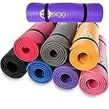 REXOO Pilates Yogamatte Fitnessmatte Gymnastikmatte Sportmatte Matte, Größe: 183cm x 61cm x 1cm, Farbe: Blau