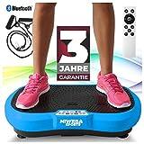 Miweba Sports Fitness 2D Vibrationsplatte MV100-3 multidimensionale Vibrationszonen - Oszillierend - 250 Watt (Blau)